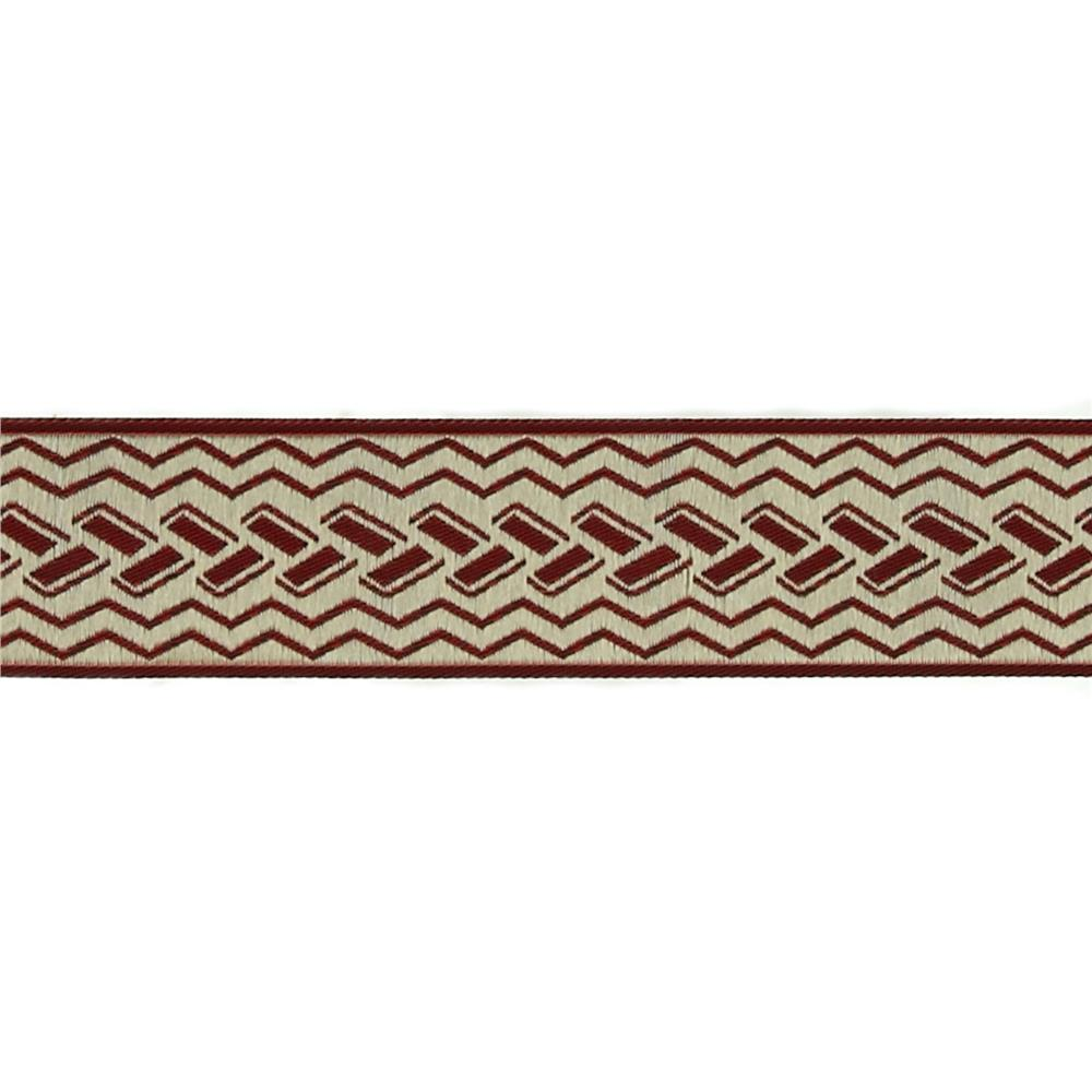 "1 1/2"" Woven Home Decor Geometric Trim Dark Brick"