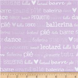 Tutu Cute Ballet Words Lilac