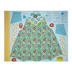 "Penny Rose Chatterbox Aprons 36"" Panel Blue"