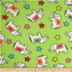 Fleece Print Elephant Lime