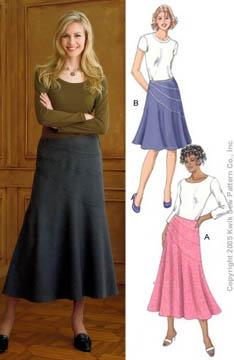 Kwik Sew Misses Pieced Hip Skirts Pattern