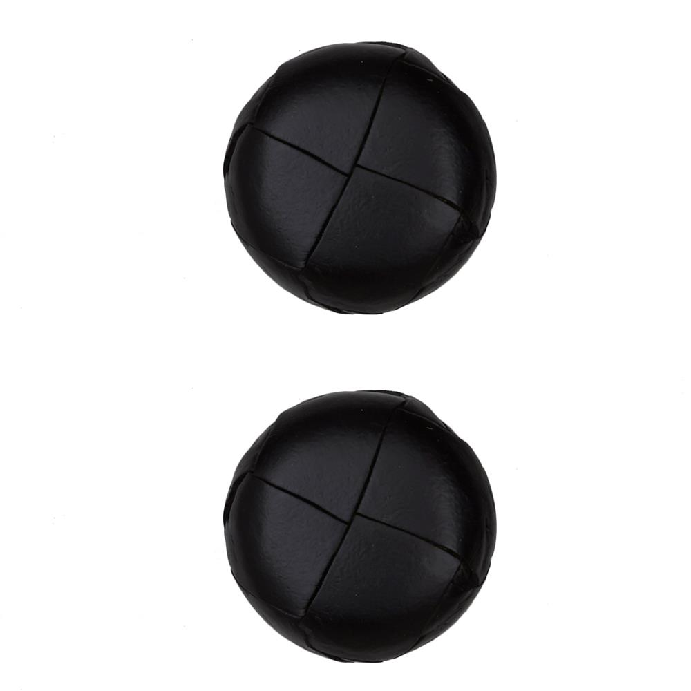 "Dill Buttons 1 1/8"" Genuine Black Leather Button"