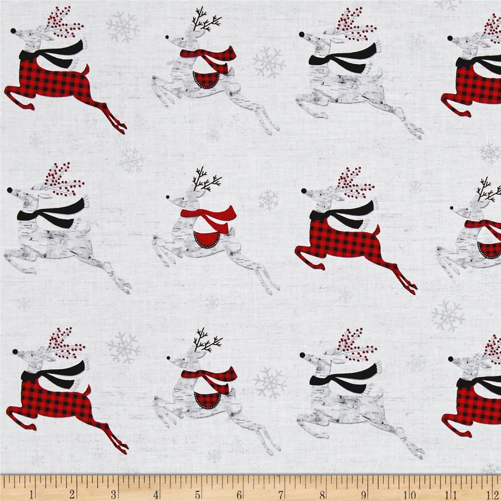 Holiday Homecoming Reindeer White/Multi