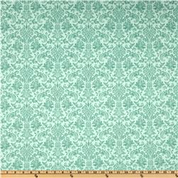 Home For The Holidays Damask Aqua