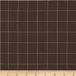 Rayon Woven Suiting Grid Brown/Cream