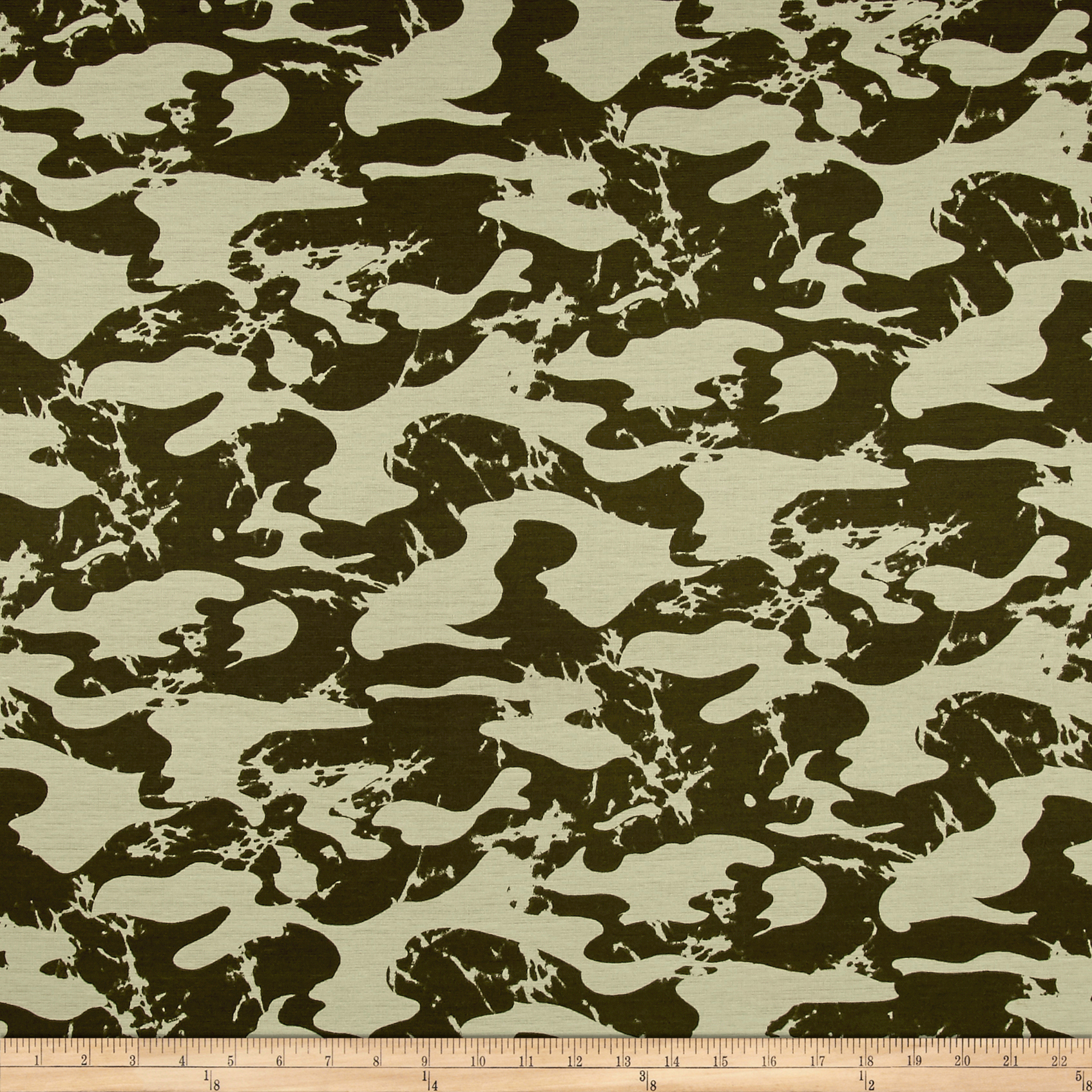 Ponte De Roma Camouflage Green Fabric by Fabric Merchants in USA