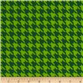 The Farm at Whistle Pig Creek Flannel Houndstooth Green