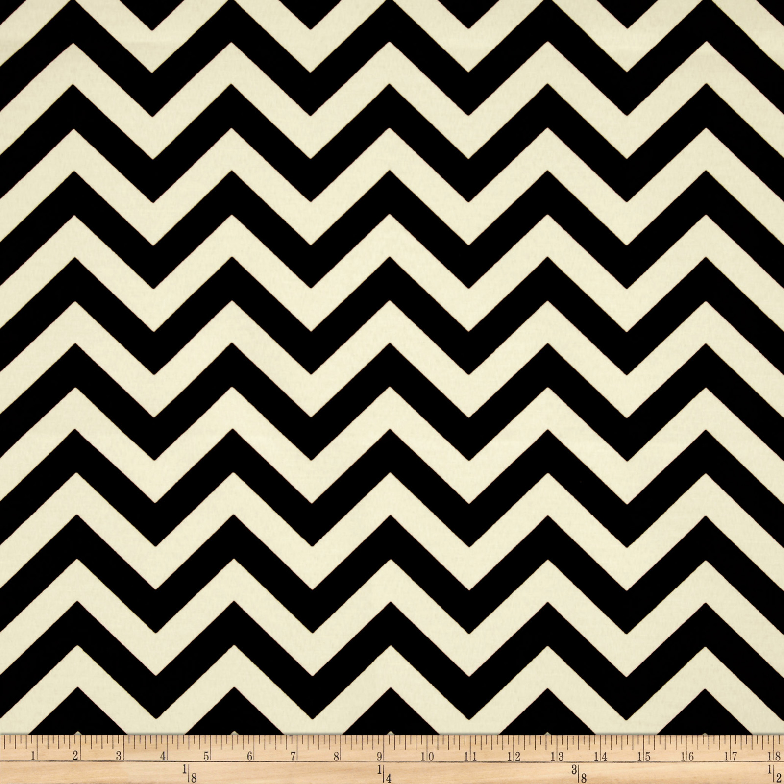 Premier Prints Indoor/Outdoor Zig Zag Ebony Fabric