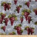 Kanvas Wine Connoisseur Print with Grape Grey