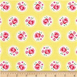 Michael Miller Fly Away Lil Dotsy Yellow Fabric