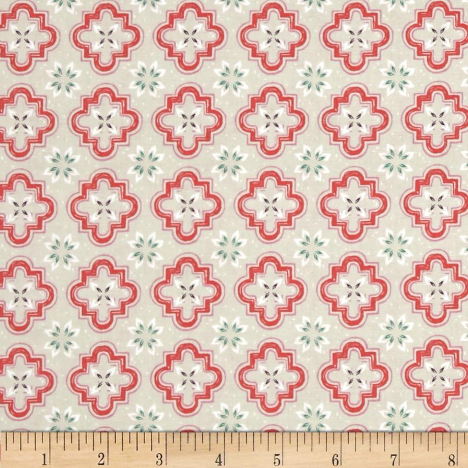 Cotton + Steel Honeymoon Porch Tile Coral