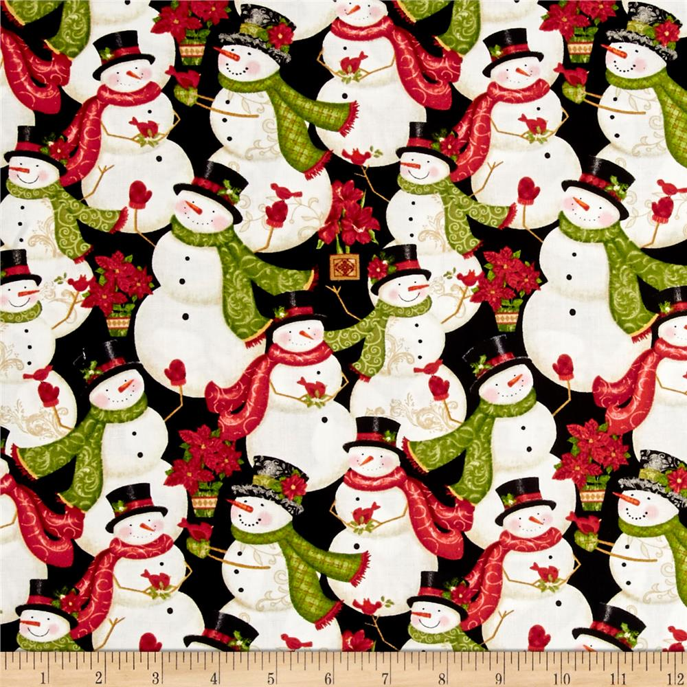Winter Bliss Packed Snowman Black