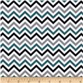 Ups & Downs Chevron Teal/Grey/Black