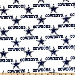 NFL Cotton Broadcloth Dallas Cowboys White Fabric