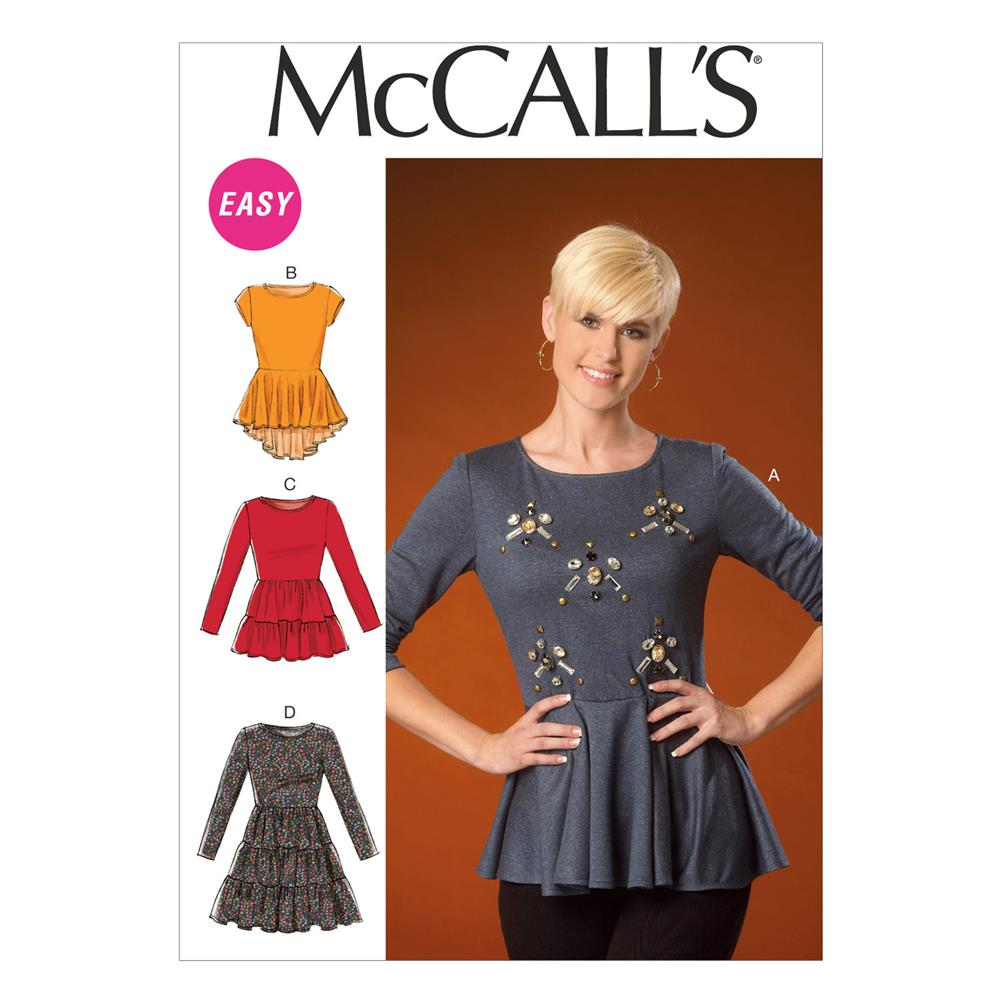 McCall's Misses' Tops and Tunic Pattern M7021 Size B50