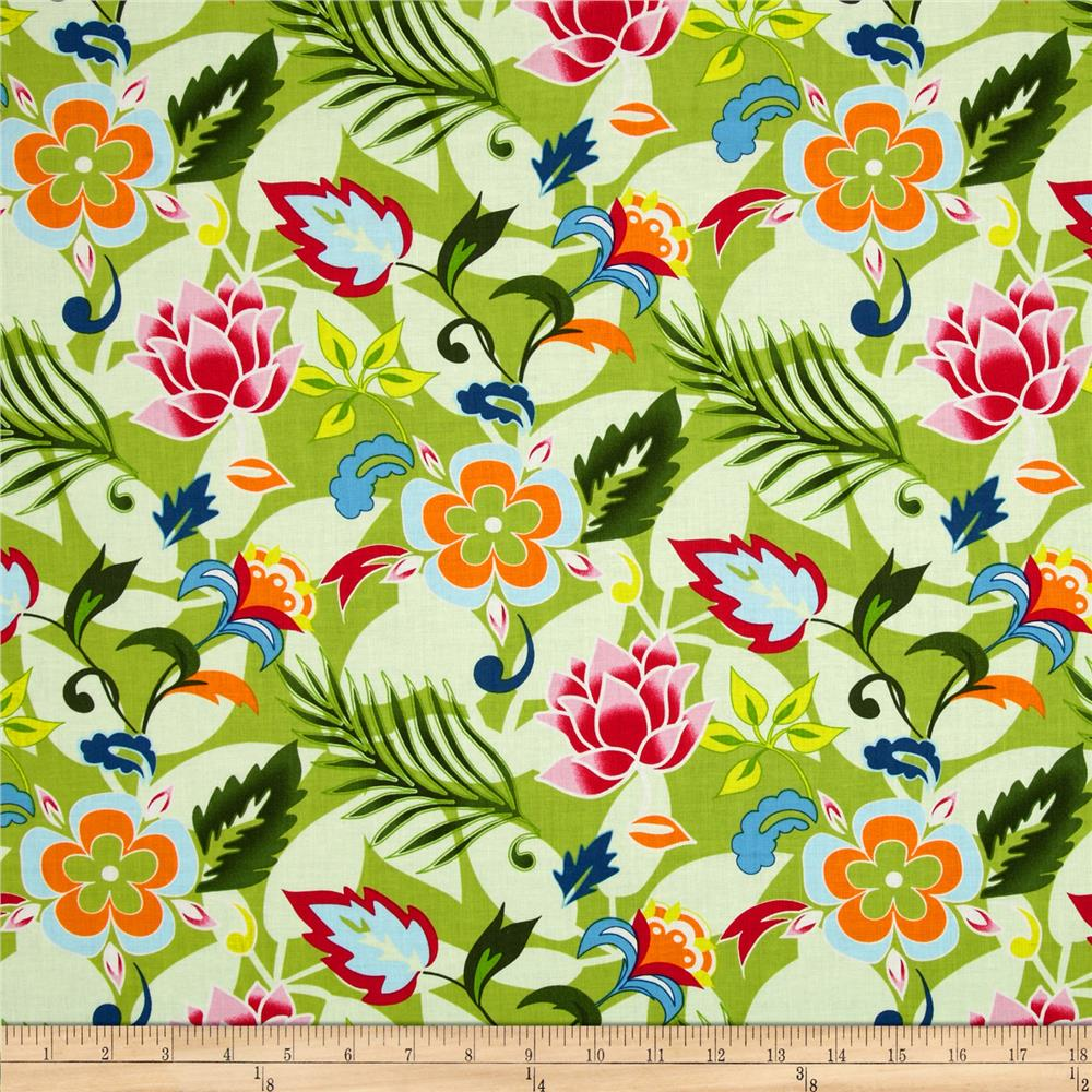 Tropical Floral Hot Pink/Green
