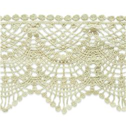 "4 1/2"" Cece Cotton Lace Trim Natural"