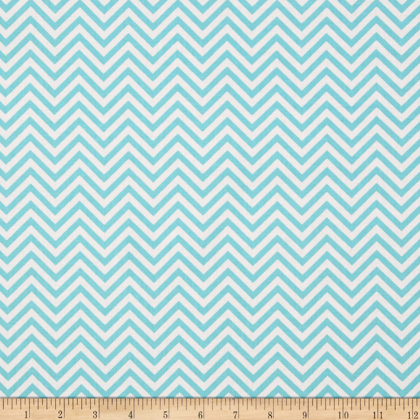 Remix Zig Zag Water Aqua Fabric