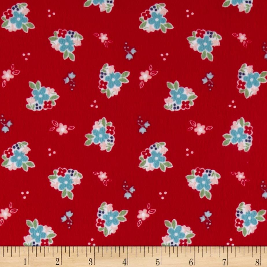 Riley Blake Country Girl Flannel Country Floral Red