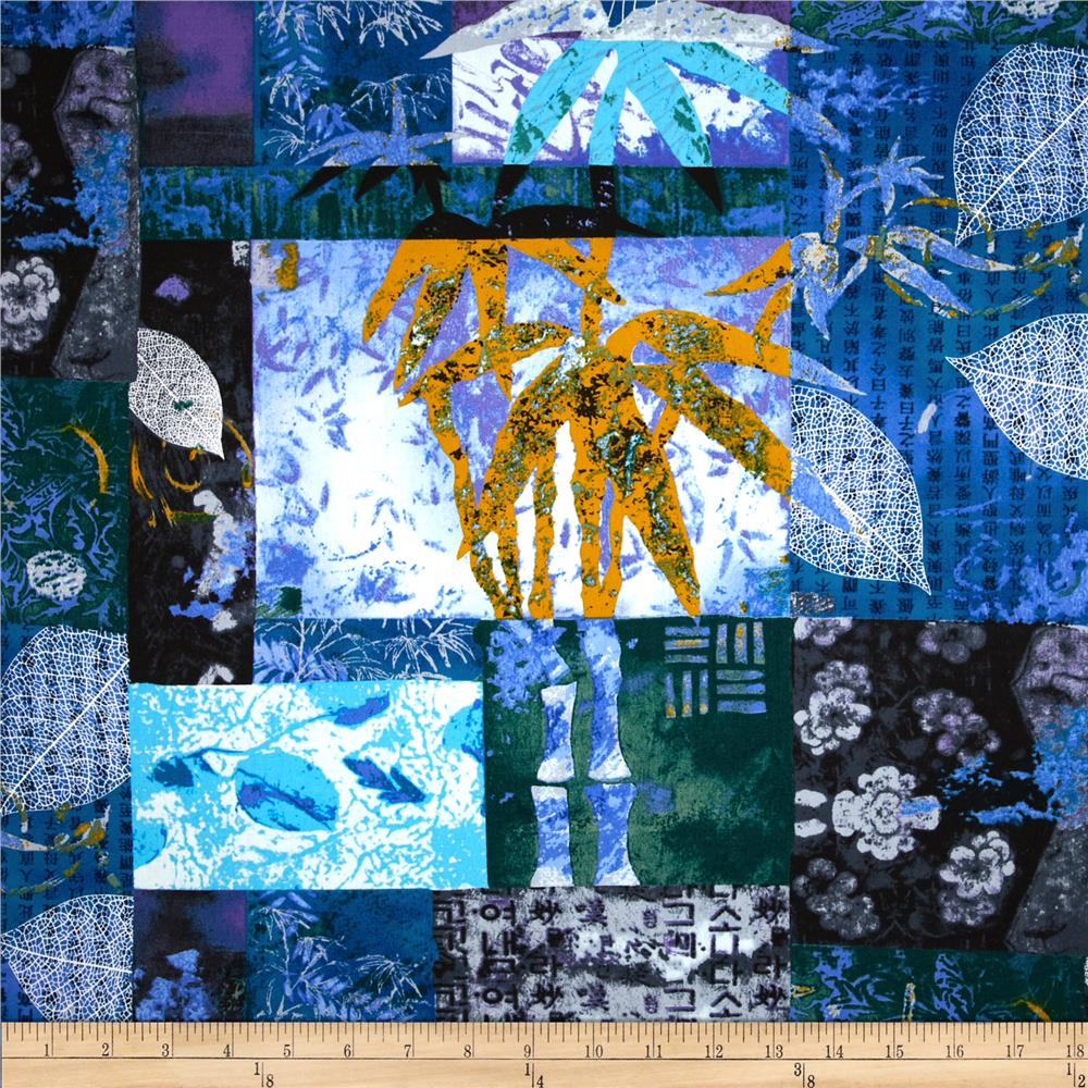 Jams world tropical patchwork blue discount designer for Fabric world