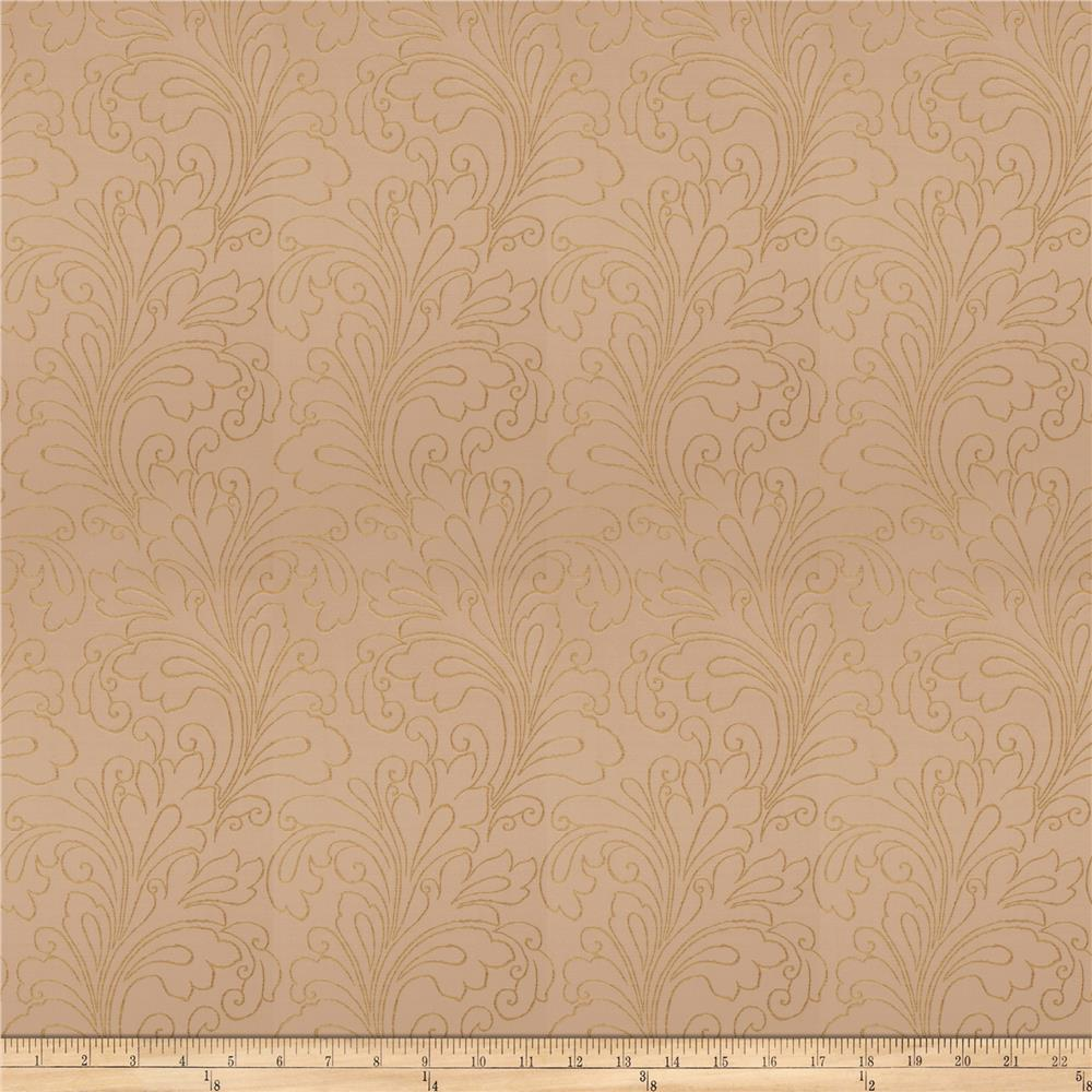 Fabricut sillago jacquard gold discount designer fabric for Jacquard fabric