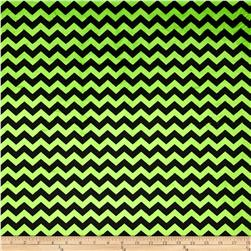 Minky Mini Chevron Bright Lime/Black Fabric