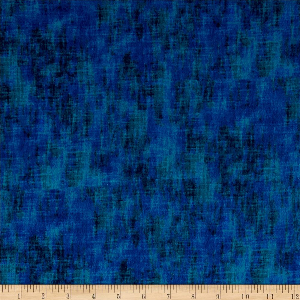 Timeless Treasures Flannel Studio Texture Peacock