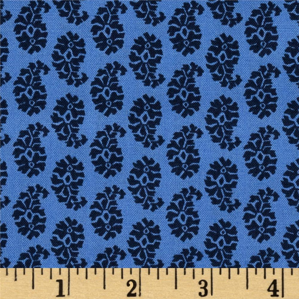 Joyful Small Paisley Blue