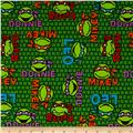 Nickelodeon Teenage Mutant Ninja Turtles Faces Jersey Knit Green Sheen