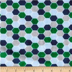 Minky Cuddle Born To Be Wild Hexies Blue