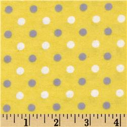 Flannelland Simply Dots Yellow/Grey