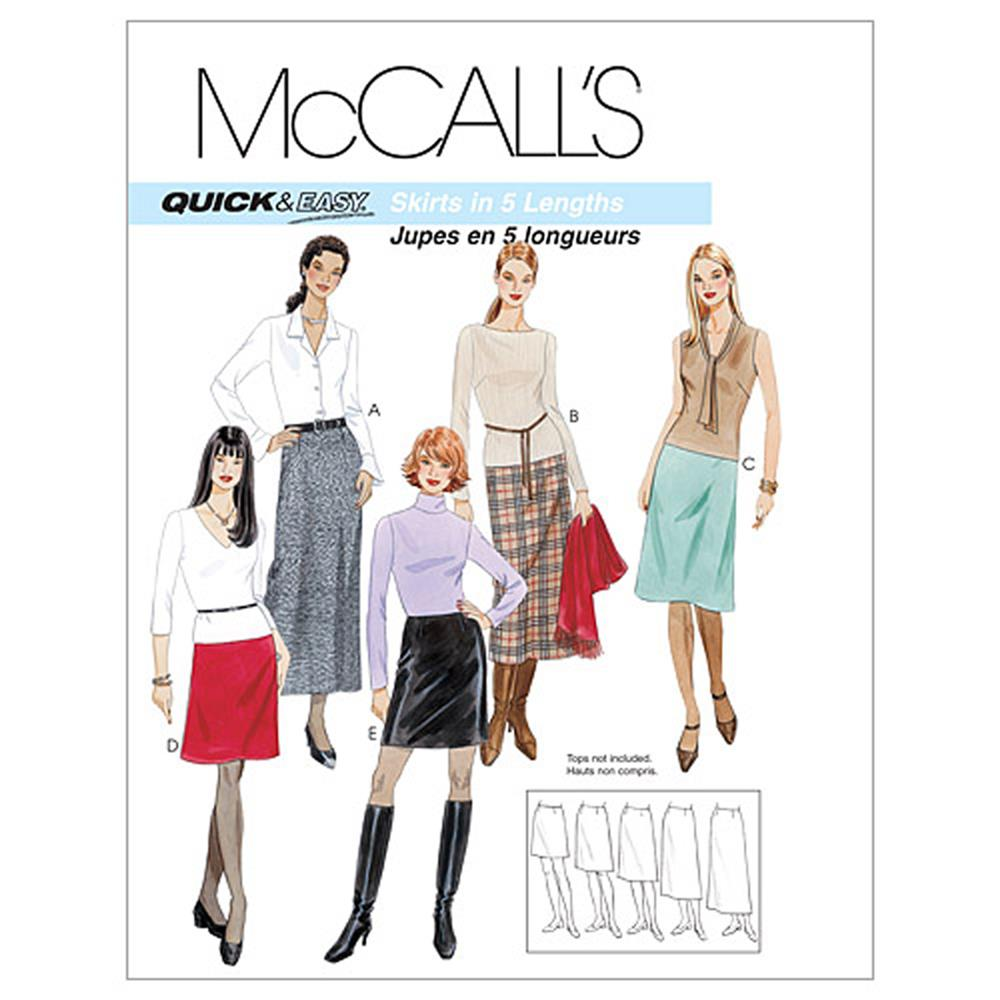 McCall's Misses' A-Line Skirts In Five Lengths Pattern M3341 Size AAX