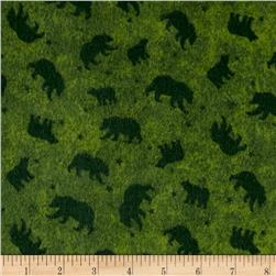 Lodge Life Flannel Bears  Green