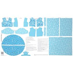 Let's Play Dolls Princess Panel Turquoise Fabric