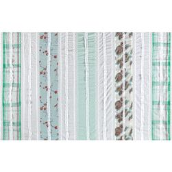 Vintage Cuts Patchwork Lawn Green/White