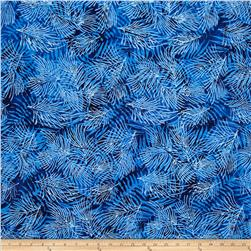 Island Batik Holiday Pine Needles Blue