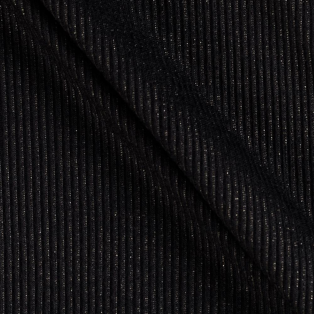 Sparkle Cotton Rib Knit Black/Silver