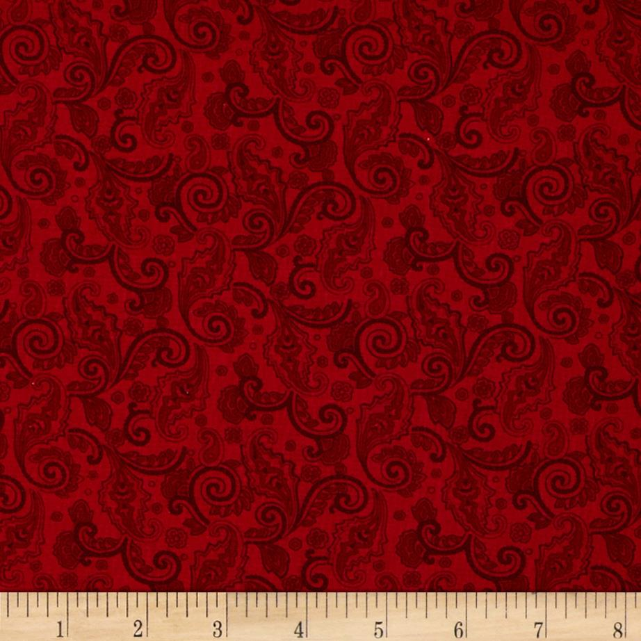 Home For the Holidays Small Scroll Red