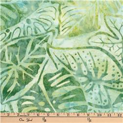 Artisan Batiks Totally Tropical Fern Leaves Seafoam Fabric