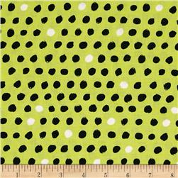 8 Days a Week Polka Dot Lime Fabric
