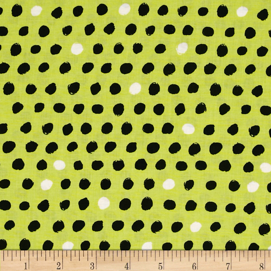8 Days a Week Polka Dot Lime