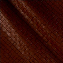 Faux Leather Tile Basketweave Buffalo