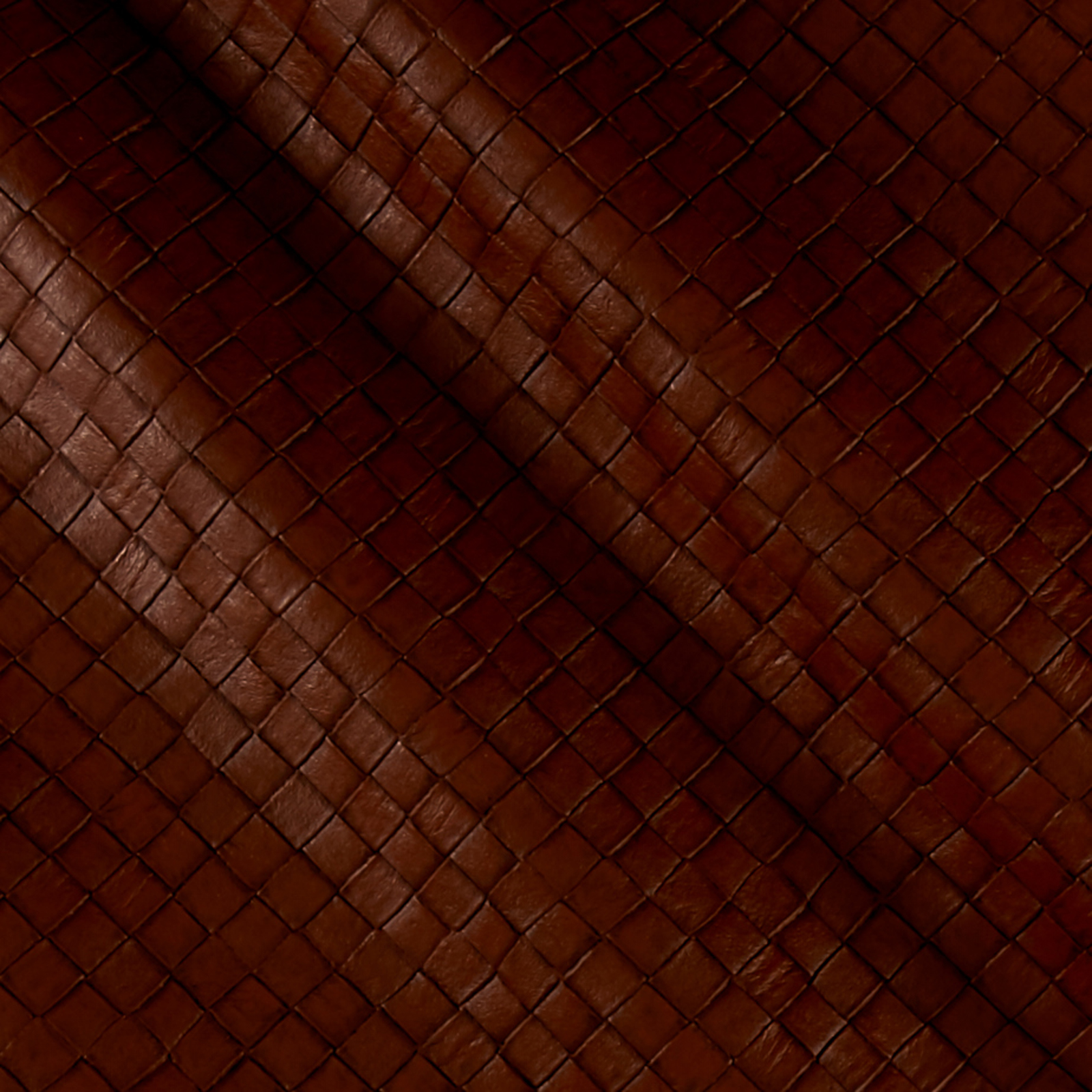 Faux Leather Tile Basketweave Buffalo Fabric by Plastex in USA
