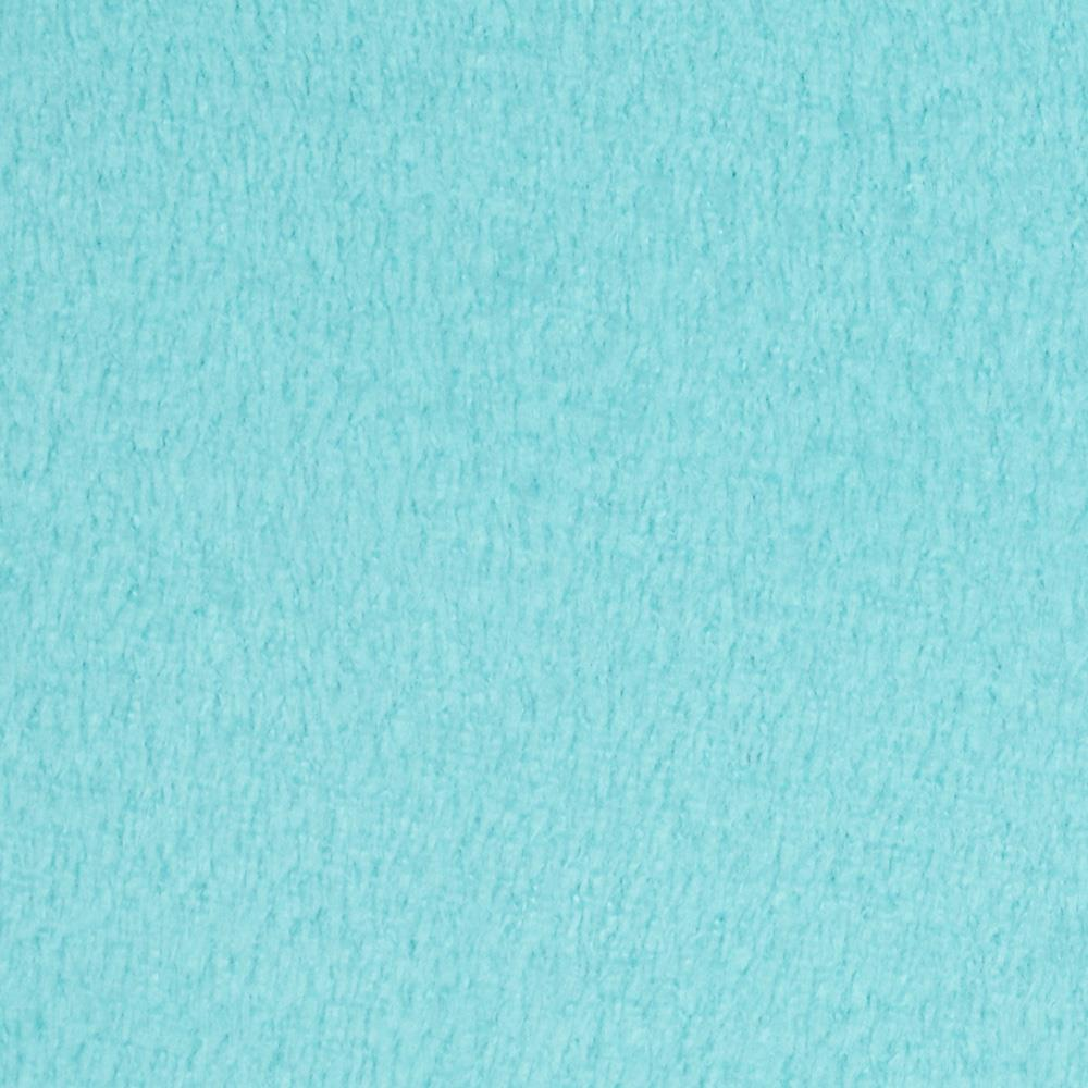 Plush Coral Fleece Solid Turquoise Fabric By The Yard
