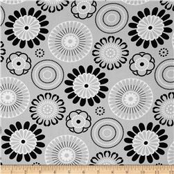Mellow Yellow Large Circles Grey
