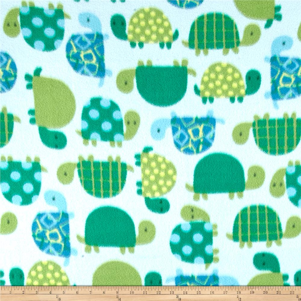 Winter Fleece Turtle Time Blue/Green
