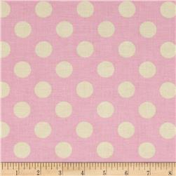 Riley Blake Le Creme Basics Medium Dots Baby Pink/Cream