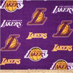 NBA Fleece Los Angeles Lakers Toss Purple Fabric