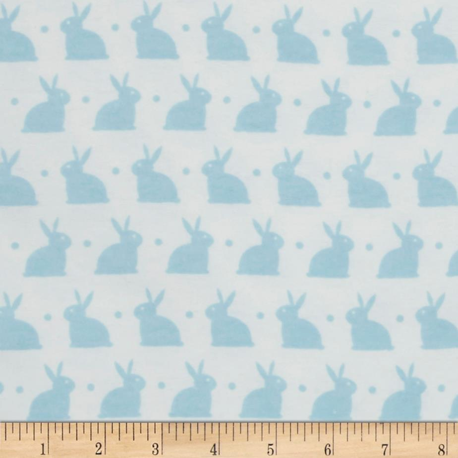 Bedtime Bunny Flannel White/Dreamy Blue