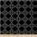 Timeless Treasures Fashionista Quatrefoil Black
